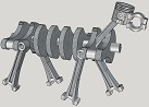Dog made form engine components